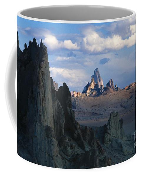 Southwest Coffee Mug featuring the photograph Sunrise On Church Rock by Sandra Bronstein
