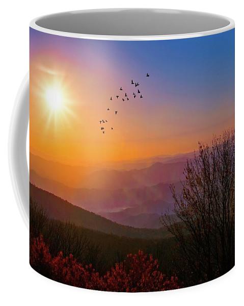 Appalacia Coffee Mug featuring the photograph Sunrise On The Blue Ridge by Lynn Bauer