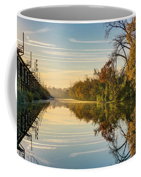 Sunrise Coffee Mug featuring the photograph Sunrise On The Canal by Tim Wilson