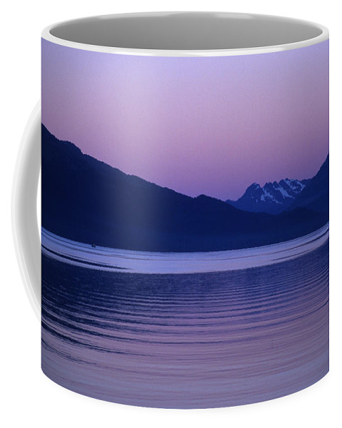 Prince William Sound Coffee Mug featuring the photograph Sunrise On The Prince William Sound by Stacy Gold