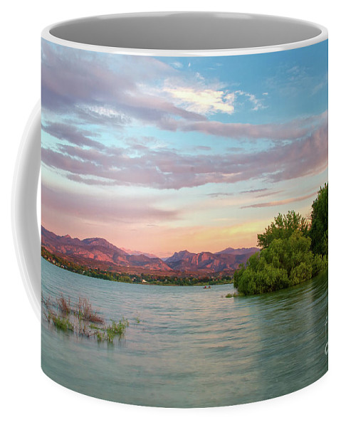Colorado Coffee Mug featuring the photograph Sunrise Over A Colorado Lake by Ronda Kimbrow