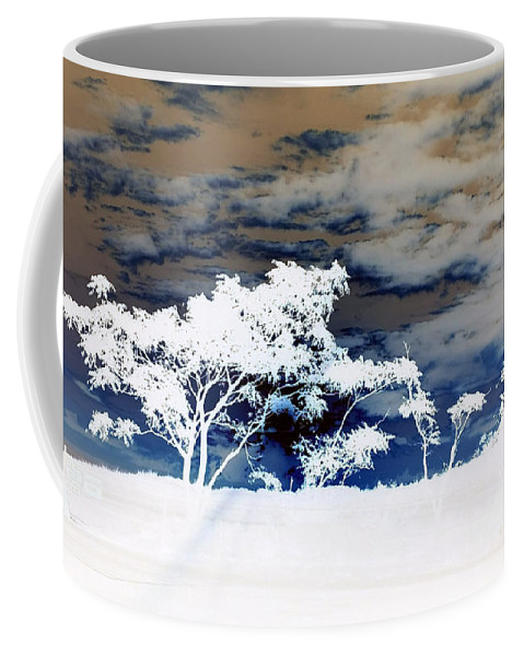 Sunrise Coffee Mug featuring the photograph Sunrise Over Fort Salonga In Negative by Rob Hans
