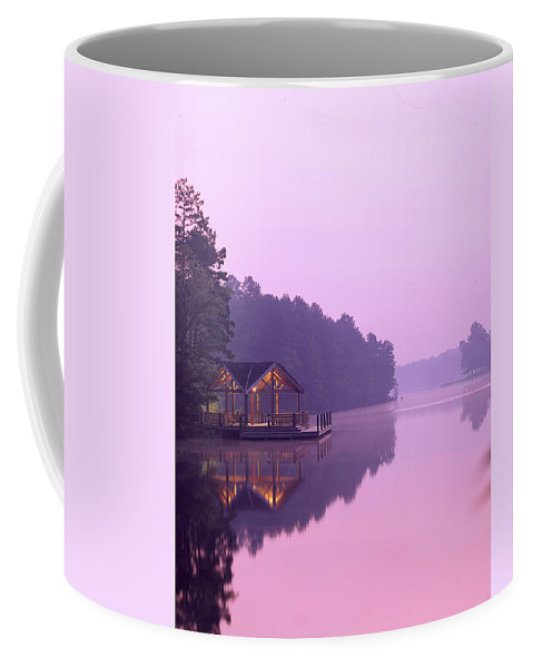 Lake Coffee Mug featuring the photograph Sunrise Over Lake Jeanette. by Robert Ponzoni