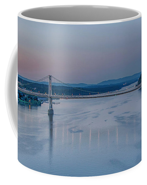 Hudson River Coffee Mug featuring the photograph Sunrise Over The Hudson by Eleanor Bortnick