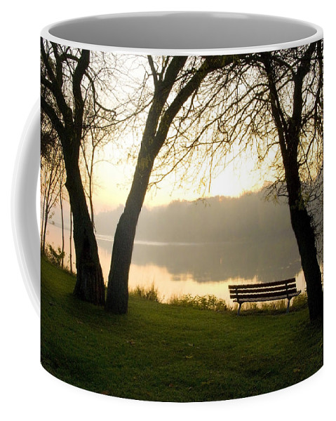 Sunrise Coffee Mug featuring the photograph Sunrise Over The Maumee by Jeffery Ball