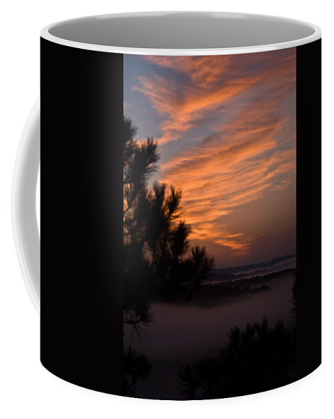 Sunrise Coffee Mug featuring the photograph Sunrise Over The Mist by Douglas Barnett