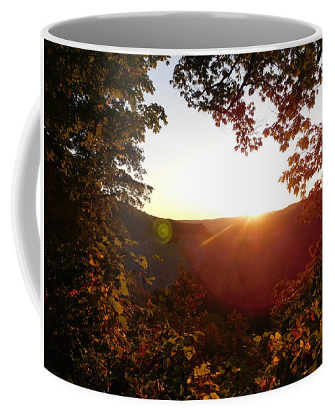 Leaves Coffee Mug featuring the photograph Sunrise Over The Mountain by Shelby Bryson