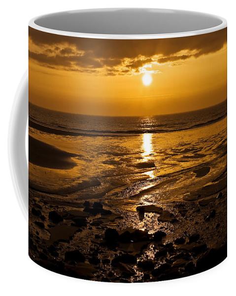 Dawn Coffee Mug featuring the photograph Sunrise Over The Sea by Svetlana Sewell