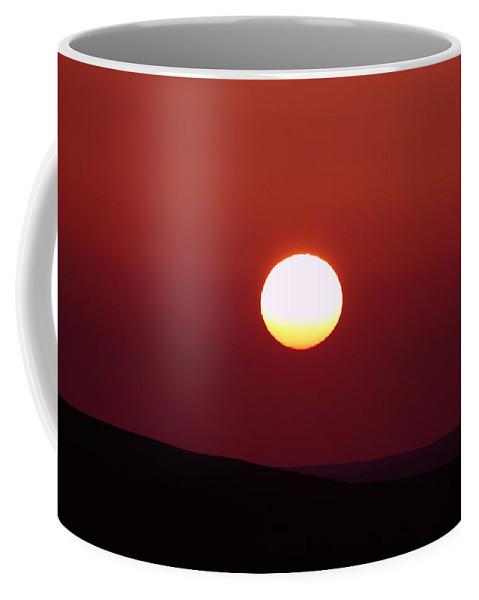 Sunrise Coffee Mug featuring the photograph Sunrise Over The Wenas by Jeff Swan