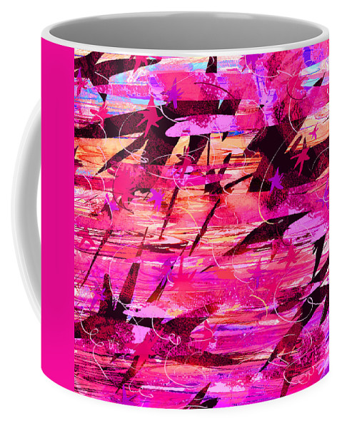 Abstract Coffee Mug featuring the digital art Sunrise by Rachel Christine Nowicki