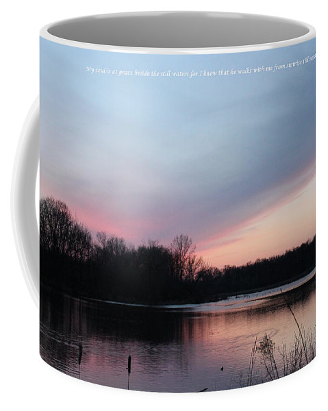 Valley Coffee Mug featuring the mixed media Sunrise Till Sunset by Cliff Ball