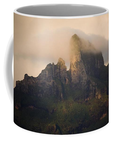 Clouds Coffee Mug featuring the photograph Sunrise View Of Bora Bora Island by Tim Laman