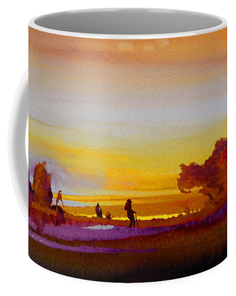 Watercolour Coffee Mug featuring the painting Sunset 07 by Miki De Goodaboom
