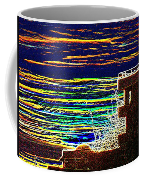 Seattle Coffee Mug featuring the digital art Sunset 1 by Tim Allen