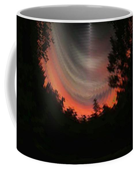 Sunset Coffee Mug featuring the digital art Sunset 3 by Tim Allen