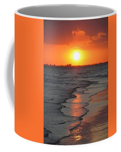 Fort Myers Beach Florida Sunset Coffee Mug featuring the photograph Sunset 4 by D G Reiter