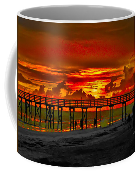 St. Petersburg Coffee Mug featuring the photograph Sunset 4th Of July by Bill Cannon