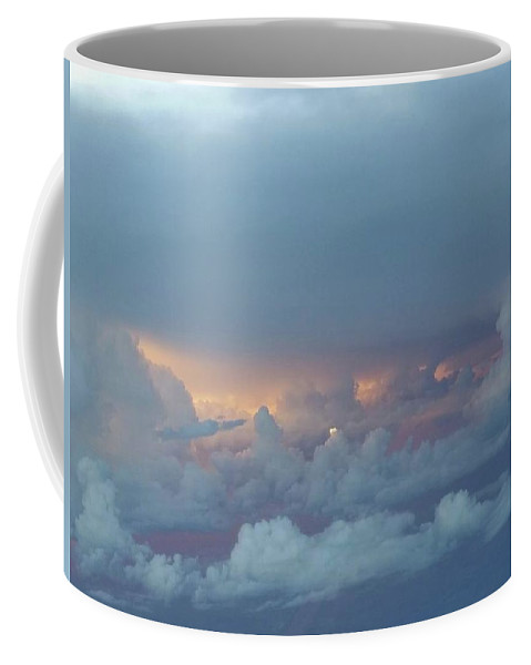 Sky Coffee Mug featuring the photograph Sunset Above The Clouds by Rebecca Fourcher