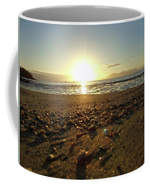 Sun Coffee Mug featuring the photograph Sunset by Amie Yabsley