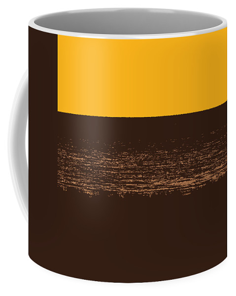 Golden Coffee Mug featuring the photograph Sunset And Lake Michigan by Michelle Calkins