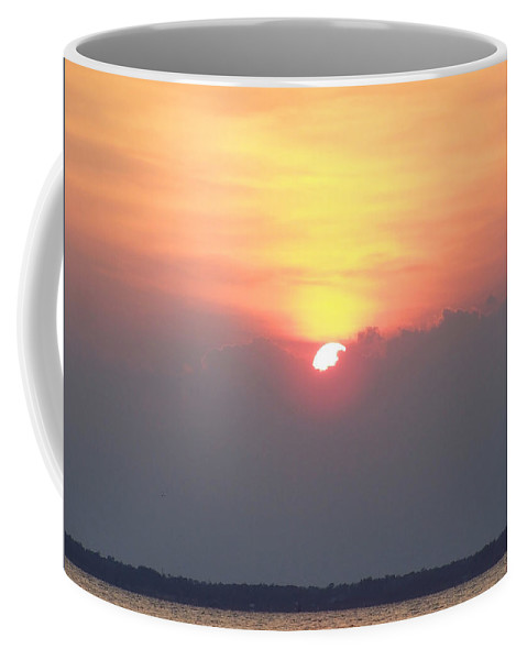 Sunset Coffee Mug featuring the photograph Sunset And The Storm by Sandi OReilly