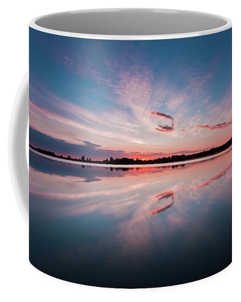 Sunrise Coffee Mug featuring the photograph Sunset at Anglezarke Reservoir #3, Rivington, Lancashire, North West England by Anthony Lawlor