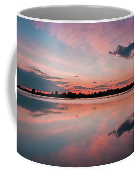 Sunrise Coffee Mug featuring the photograph Sunset at Anglezarke Reservoir #4, Rivington, Lancashire, North West England by Anthony Lawlor