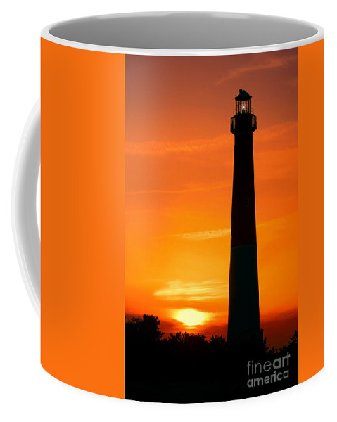 Barnegat Coffee Mug featuring the photograph Sunset At Barnegat Lighthouse by Olivier Le Queinec