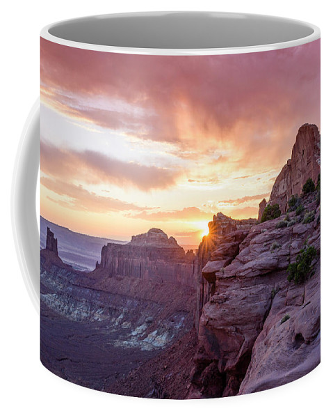 Canyonlands National Park Coffee Mug featuring the photograph Sunset At Canyonlands by Anderson Outdoor Photos
