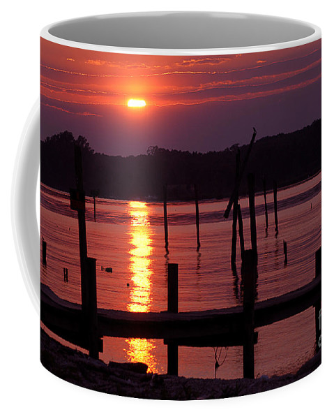 Clay Coffee Mug featuring the photograph Sunset At Colonial Beach by Clayton Bruster