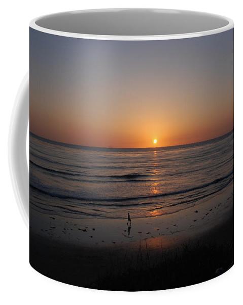 Sunset Coffee Mug featuring the photograph Sunset At Eljio Beach California by Susanne Van Hulst