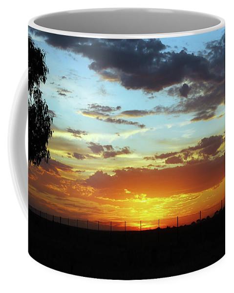 Australian Bush Sunset Coffee Mug featuring the photograph Sunset At Little River Victoria by Lexa Harpell