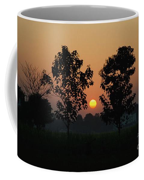 Sunset Coffee Mug featuring the photograph Sunset At Lumbini by Javier Sanchez de la vina