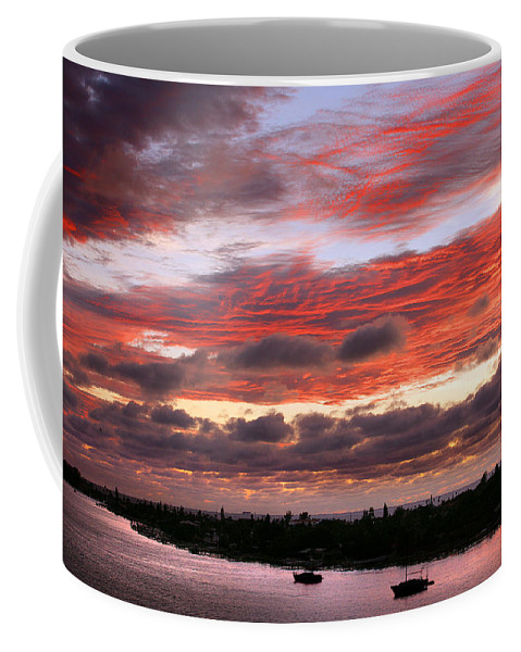 Sun Coffee Mug featuring the photograph Sunset At Pass A Grille Florida by Mal Bray