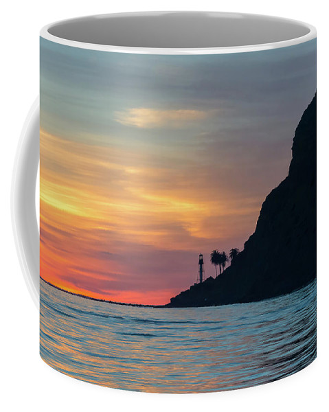 California Coffee Mug featuring the photograph Sunset At Point Loma by Linda Schafer