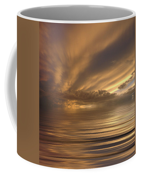 Sunset Coffee Mug featuring the photograph Sunset At Sea by Jerry McElroy