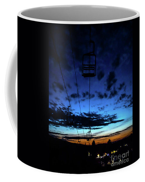 Smugglers Notch Coffee Mug featuring the photograph Sunset At Smugglers' Notch, Vermont - Portrait by James Aiken