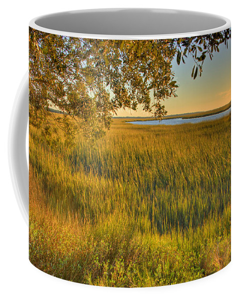Water Coffee Mug featuring the photograph Sunset At The Marsh by Ches Black