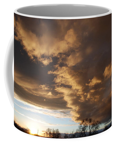 Sunset Coffee Mug featuring the photograph Sunset At The New Mexico State Capital by Rob Hans