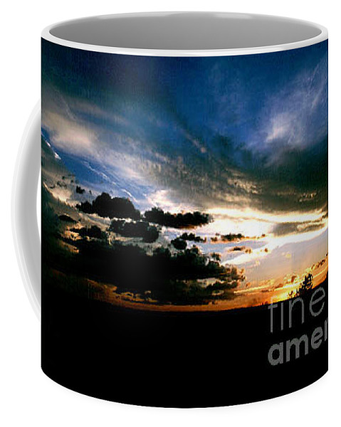 Sunset Coffee Mug featuring the photograph Sunset At The North Rim by Kathy McClure