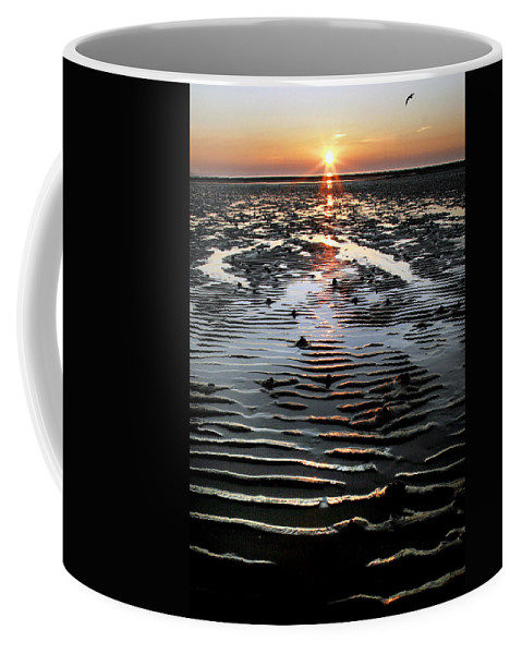 Sunset Coffee Mug featuring the photograph Sunset At The West Shore Llandudno by Mal Bray