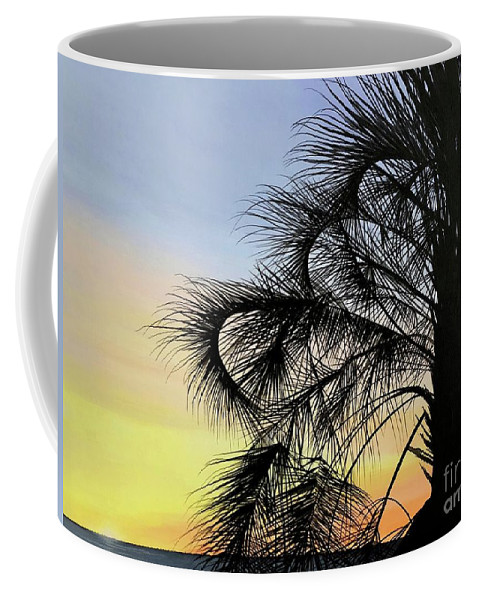 Sunset Coffee Mug featuring the painting Sunset at Treasure Island by Hunter Jay