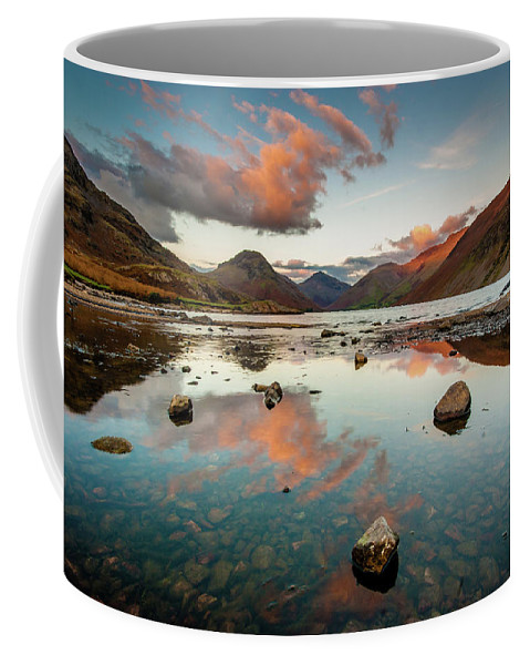 Sunrise Coffee Mug featuring the photograph Sunset at Wast Water #1, Wasdale, Lake District, England by Anthony Lawlor