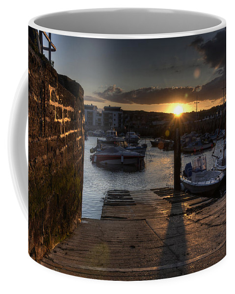 West Coffee Mug featuring the photograph Sunset At West Bay Harbour by Rob Hawkins