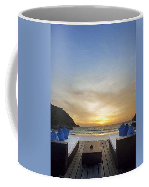 Andaman Coffee Mug featuring the photograph Sunset Beach by Setsiri Silapasuwanchai