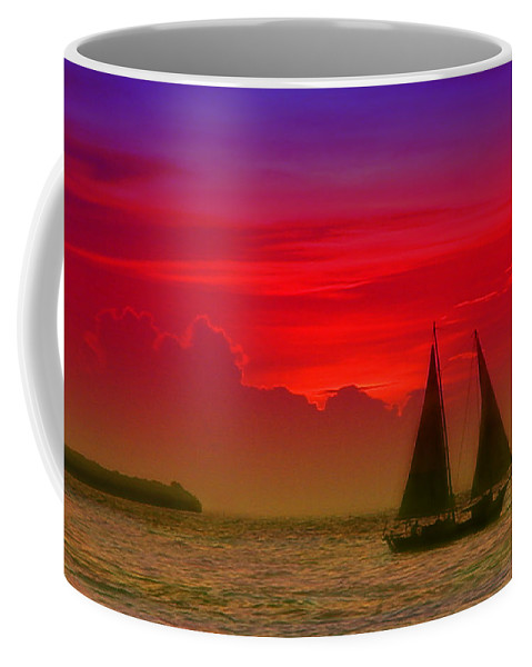 Sunset Photos Coffee Mug featuring the photograph Sunset Behind The Clouds by Susanne Van Hulst