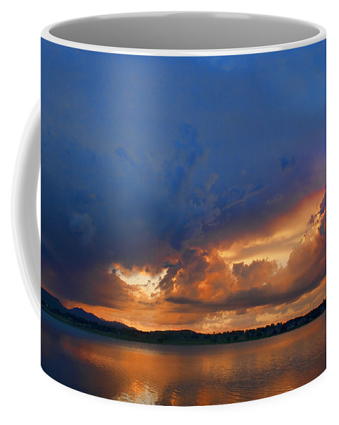 Blues Coffee Mug featuring the photograph Sunset Blues by James BO Insogna