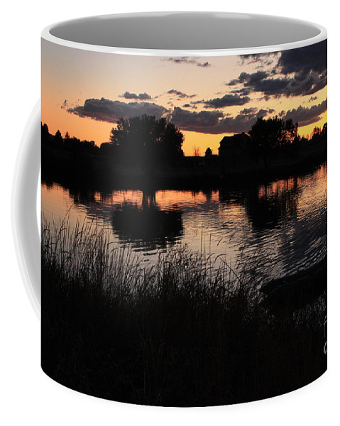Sunset Coffee Mug featuring the photograph Sunset Boat by Carol Groenen