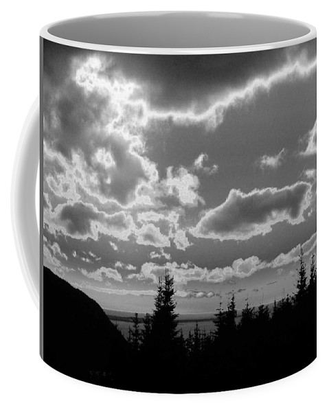 Black And White Photographs Coffee Mug featuring the photograph Sunset Bw by Barbara Griffin