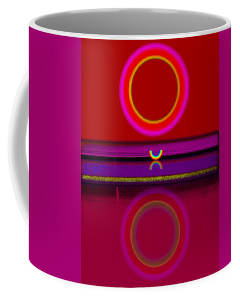 Red Coffee Mug featuring the painting Sunset by Charles Stuart